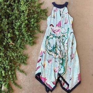 Eva Franco Anthro Cartographer Handkerchief Dress